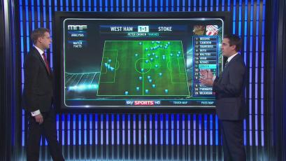 Gary Neville shows off his massive iPad.
